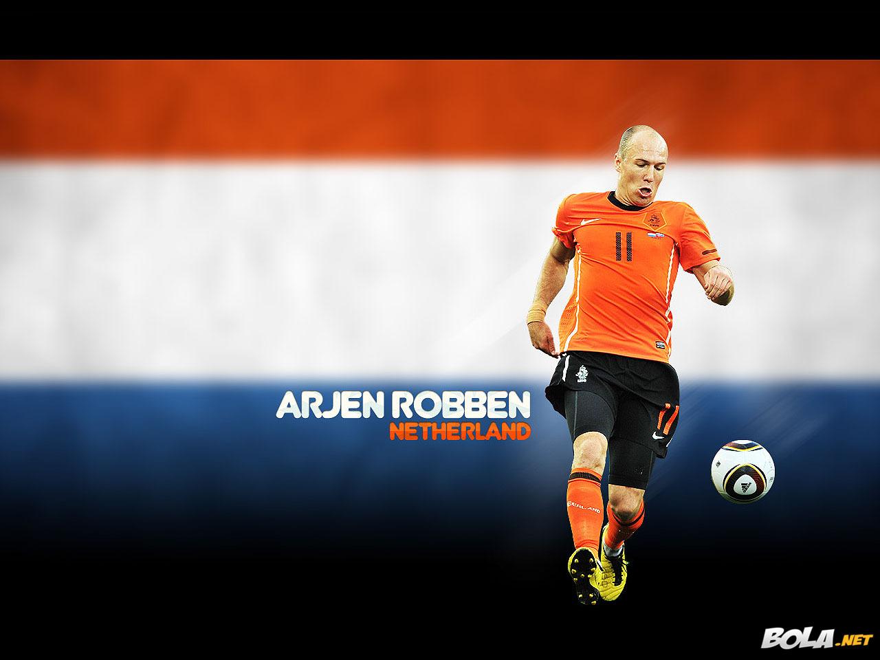 Arjen Robben Football Wallpaper
